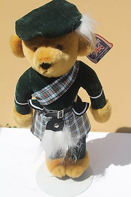 Merrythought Britian Stuffed Bear Harrods Knightsbridge England Scottish Dress