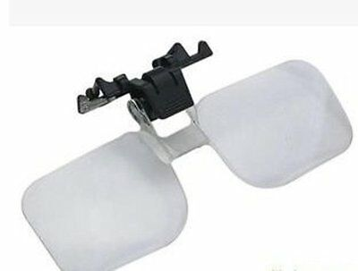 Clip-On Glasses Magnifier Magnifying Lens Folding Head magnifier for Spectacles