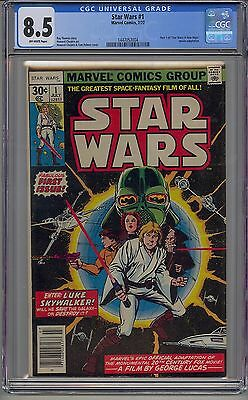 Star Wars #1 1977 Cgc 8.5 Off-White Pages Marvel Rip Carrie Fisher