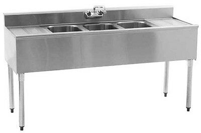 Eagle Group SS Underbar Sink Unit 4 Compartment 72in x 20in - B6C-4-18-X