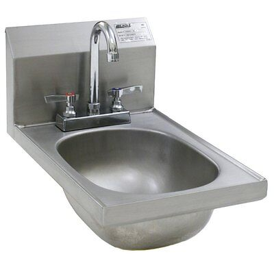 Eagle Group HSAND-10-F SS Wall Mount Hand Sink Deck Mounted Faucet NSF