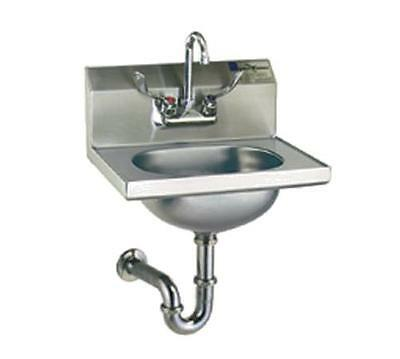 Eagle Group HSA-10-FAW SS Wall Mount Hand Sink Faucet Wrist Handles w/ P-trap