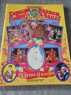 PROGRAMME CIRQUE/CIRCUS PROGRAM 1985 RINGLING BARNUM Bailey Living Unicrone