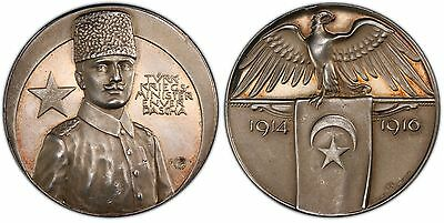 TURKEY. 1916 AR Medal. PCGS SP63. Zetzmann-3058. To the Minister of War.