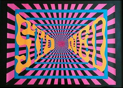 Genuine Rare Vintage Psychedelic Black Light Poster Late 1960's
