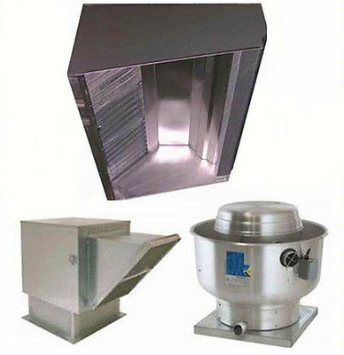Superior Hoods 10ft Restaurant Hood System w/ Make-Up Air & Exhaust Fans - S10HP