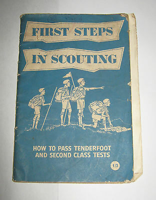 British UK Boy Scouts 1959 How to pass tenderfoot and second class tests 1st Ed.