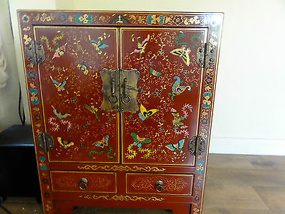 Shimu Shanxi Butterfly Chinese Red Lacquer Hi-fi cupboard / cabinet