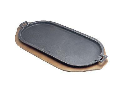 Tomlinson Industries 4ea Cast Iron Serving Griddle 18in x 9.25in W/ Handles