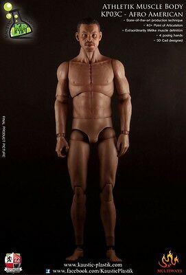 1/6th Scale Athletik Muscle Body - Afro American Version - Kaustic-Plastic -Neu