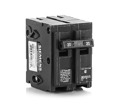 Siemens Q220 20 Amp Circuit Breaker | 2 Pole | 240-Volt | NEW