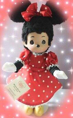 "Disney Minnie Mouse Fur-Ever - Precious Moments 12"" Vinyl Doll"