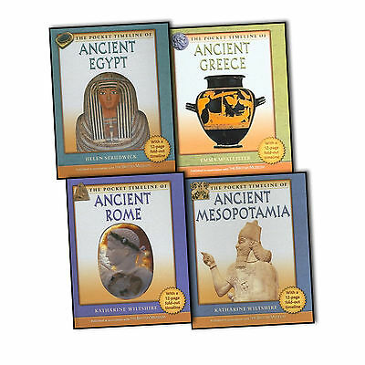 The Pocket Timeline Of 4 Books Collection Ancient Rome Egypt Greece Mesopotamia