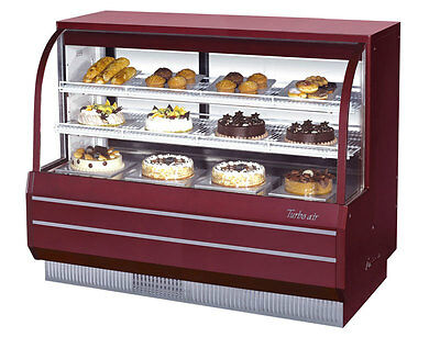 "Turbo Air 60.5"" Non-Refrigerated Dry Bakery Display Case Curved Glass TCGB-60-DR"