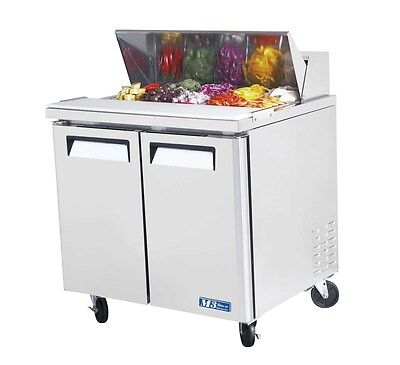 "Turbo Air MST-36-N6 36"" Cold Air Sandwich & Salad Prep Cooler w/ 10 Pans"