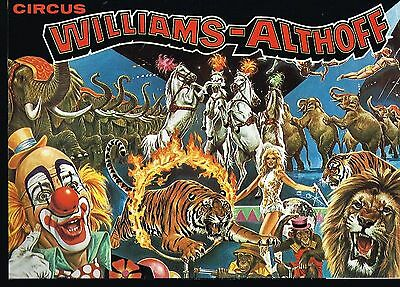 Programme-Affiche Cirque/circus Program  19?? Williams-Althoff