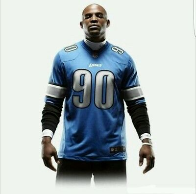 NFL Detroit Lions Game Jersey (Ndamukong Suh) 468952-485 ) - M - New With Tags