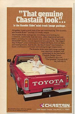 1978 Chastain Rumble Rider Package Pickup Truck Bed Seating in Toyota Longbed Ad