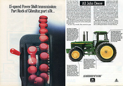 1991 John Deere 4577 Farm Tractor 2 Page Print Ad
