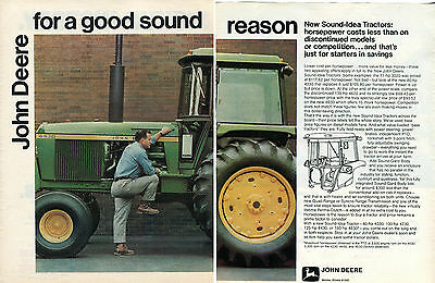1973 2 Page Print Ad of John Deere 4430 Farm Tractor