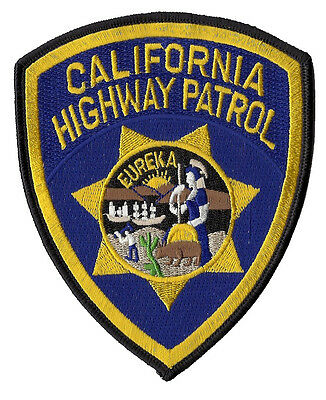 California Highway Patrol Shoulder Patch 5 inches tall by 4 inches wide - NEW