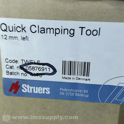 Struers 05876911 Quick Clamping Tool For 12 Mm T-Slots  Fnfp