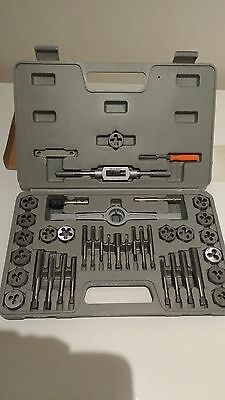 Contractor 40pc Carbon Steel Tap and Die Set New