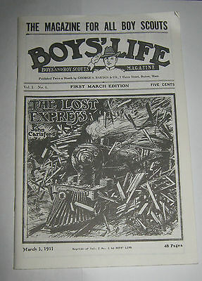 Boy's Life Magazine - March 1, 1911 - REPRODUCTION Boy Scouts of America BSA