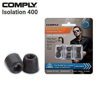 Comply Foam TX-400 Isolation + WaxGuard 3 Pairs Earphone Tips Medium Noir DF