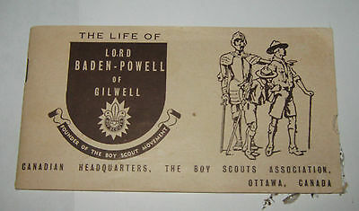 The Life of Lord Baden-Powell of Gilwell Boy Scouts Association Canada Booklet