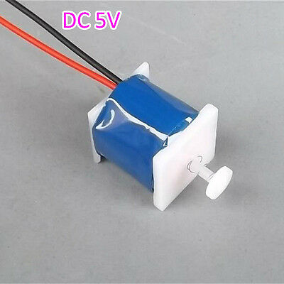 2PCS DC5V 200mA Push-Pull Micro Electromagnet Solenoid Coil Long-time Power On