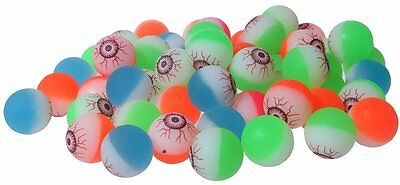 Colorful Bright Solid Neon Color Eyes Eyeball High Bouncing Balls 50 pcs 3.2cm