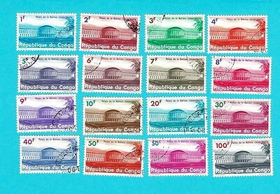 CONGO SC#498-513 GOOD LOT OF 16 USED STAMPS. lot#893