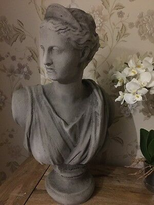 Shabby Chic French Vintage Style Large Bust Head Sculpture Ornament