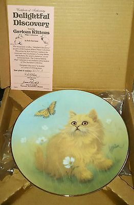 Curious Kittens Delightful Discovery Porcelain Cat Plate Hamilton Collection NEW