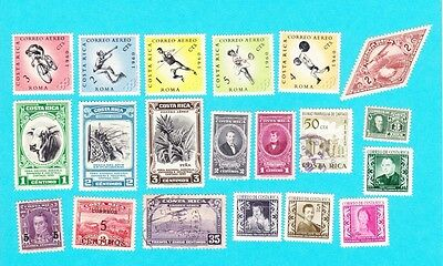 Costa Rica   GOOD LOT OF 20 MH &  USED  STAMPS. lot#898