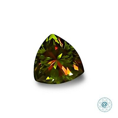 Diaspore. Trillion 7x7 mm. 1 Ct. Created Gemstone Nanosital. US@GEMS