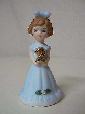 Enesco GROWING UP GIRLS - BRUNETTE AGE 2 Birthday doll figurine #E9526 NEW