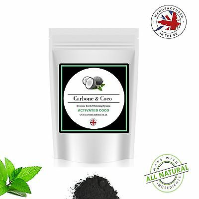 Carbone & Coco™ Coconut Charcoal Activated Whitening Tooth Teeth Powder Organic