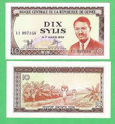 Guinea 10 Sylis Note P-16  UNCIRCULATED