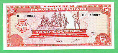 Haiti 5 Gourdes Note P-246a UNCIRCULATED