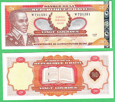 Haiti 20 Gourdes Note P-271A UNCIRCULATED