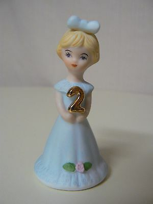 Enesco GROWING UP GIRLS - BLONDE AGE 2 Birthday doll figurine #E2302 NEW