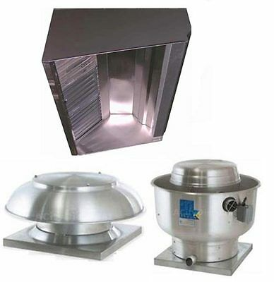 Superior Hoods S9HP 9ft Restaurant Hood System w/ Make-Up Air & Exhaust Fans