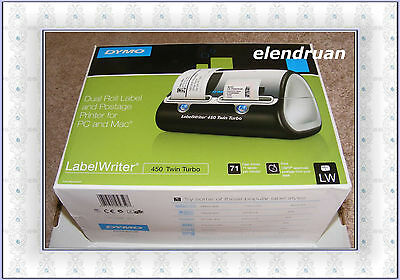 NEW DYMO LabelWriter 450 Twin Turbo Dual Roll Label and Postage Printer PC Mac