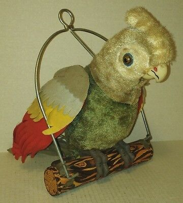 vtg MARX Pretty Peggy Parrot old Battery Operated