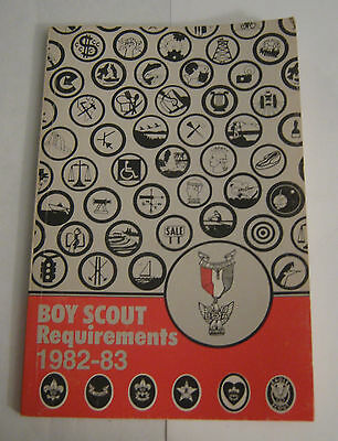 Boy Scouts of America BSA Requirements 1982-1983 Troop Manual Book