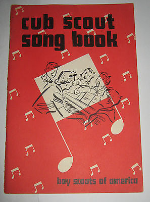 Boy Scouts of America BSA Cub Scout Song Book - 1957