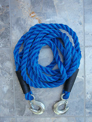 Tow Rope - 2000kg Max Load - Tough Forged Steel Hooks