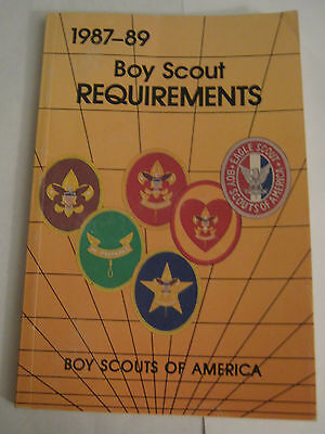 Boy Scouts of America BSA Boy Scout 1987-1989 Requirements Book Manual